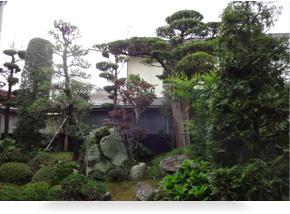 日本家屋の庭園造り