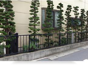 従来の垣根の概念を払拭。狭いスペースや日陰にも対応した植栽も可能。
